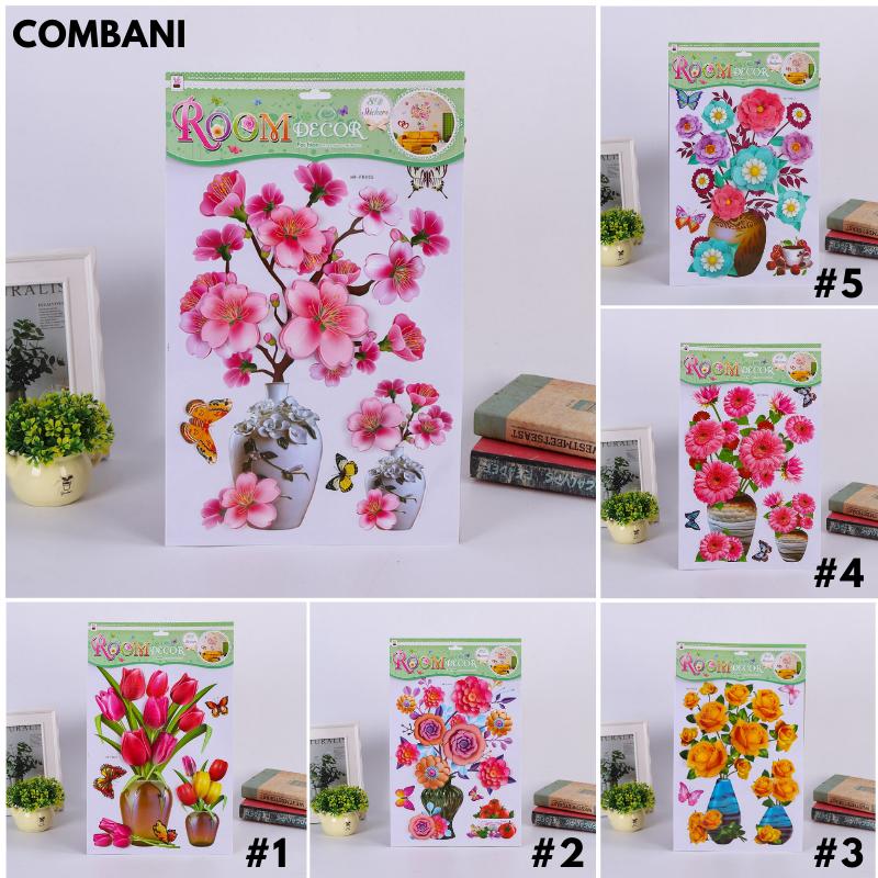 Tranh dán tường 3D hoa nổi trang trí phòng khách room decor cam kết sản phẩm đúng mô tả chất lượng đảm bảo
