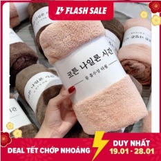 Khăn Tắm Hàn Quốc Lông Cừu LOẠI 1 khổ lớn (Dài 140cm X Rộng 70cm), Màu Sắc Nhã Nhặn, Làm Từ Sợi Siêu Tự Nhiên Cap Cấp Mềm Mịn, Hút Ẩm Tốt, khăn tắm cho bé, khăn tắm khách sạn, khăn tắm spa dq6