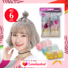 ♥ Lamdepdeal – Combo 6 lô uốn phồng tóc mái – Lô cuốn tóc mái phồng tự nhiên, tạo kiểu tóc xoăn lọn chân tóc – Có kích thước lớn nhỏ phù hợp mọi kiểu tóc