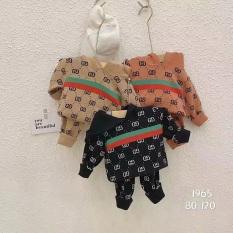 Bộ len cho bé trai từ 0-3 tuổi, kiểu có mũ, chất len 2 lớp cao cấp mềm mịn, ko bai nhão xù – HK KIDS (mã 1965)