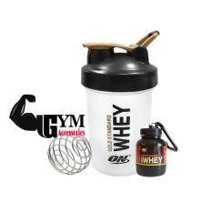 Bộ 2 sản phẩm bình lắc shake bottle và hộp đựng whey ishake protein funnel ON Gold Standard