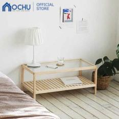 Bàn Trà Sofa Mặt Kính OCHU Khung Gỗ Hình Chữ Nhật – Pure Table