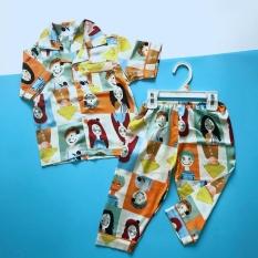 Pijama tay ngắn cho bé vải Lụa Satin Nhiều họa tiết size 10-40kg
