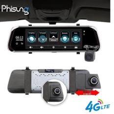 Camera hành trình gương ô tô, xe hơi cao cấp E08-E 4G Wifi GPS 10 inch Full HD 1080P