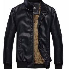 Áo khoác da nam Model fashion ak116 (Đen)