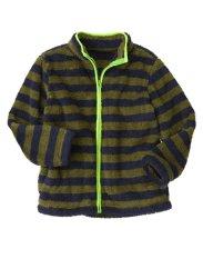 Chỗ nào bán Áo khoác lông cừu Crazy8 34782 Stripe Sherpar Olive Green sz 5-6y