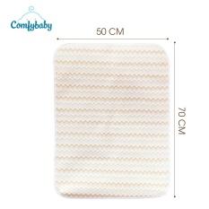 Tấm lót chống thấm thay tã 4 lớp Organic cotton hữu cơ Comfybaby kháng khuẩn thoáng khí