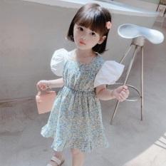 váy đầm công chúa cánh tiên nơ lưng cao cấp cho bé đi du lịch