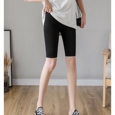 Quần thun legging thể thao CERA-Y lửng ngố ôm body màu đen CRQ013, chất vải thun 2 chiều co dãn, vải nhẹ mặc mát, dễ phối trang phục khác