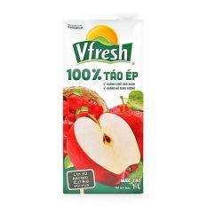 Nước táo ép 100% Vfresh 1L sản phẩm thơm ngon, chất lượng, có nguồn gốc xuất xứ rõ ràng, an toàn cho người tiêu dùng