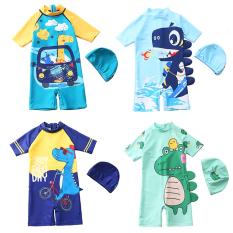 Đồ bơi bé trai, đồ bơi khủng long cho bé trai 5-10 tuổi liền thân chống nắng nhiều màu sắc Baby-S– SDB016