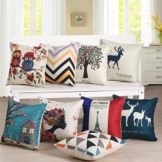Vỏ gối tựa lưng sofa 40×40 SGCUSHION vải Linen in hình – giao màu ngẫu nhiên