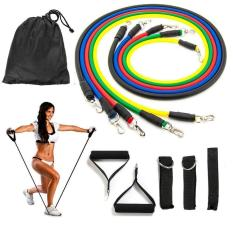 Bộ 5 Dây Kéo tập thể Lực- Bộ 5 dây đàn hồi tập kháng lực thể hình cao cấp cho nam và nử – dụng cụ tập gym – thể thao, Nhiều Tư Thế Khác Nhau, Thích Hợp Cho Cả Nam Nữ Tập Gym. BH 1 ĐỔI 1