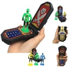 Đồ chơi điện thoại Siêu Nhân Gao hải tặc chạy bằng pin, bộ đàm bấm phát sáng kèm âm thanh sinh động