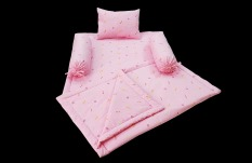 Bộ chăn đệm gối cho bé bằng vải cotton mềm mịn thoáng khí dễ giặt sạch dễ dàng thay cho bé hàng ngày