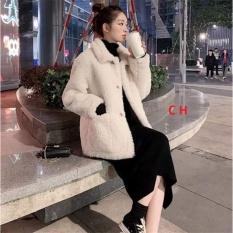 Sét váy body+áo khoác lông CH12