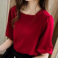 Áo Kiểu Nữ Cổ Vuông Bo Tay Xinh Đẹp