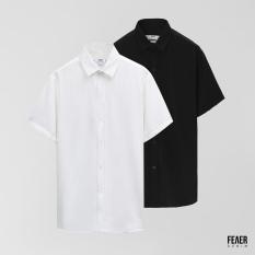 Áo sơ mi nam họa tiết FEAER vải Lụa thoáng mát, không nhăn form suông Basic Short Sleeve Feaer |new arrival 2021|
