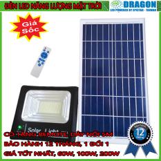 Đèn pha led năng lượng mặt trời công suất 60w kèm tấm pin rời có remote có cảm biến tự động dây nối