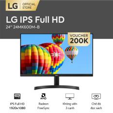 [FREESHIP – VOUCHER 200K – TRẢ GÓP 0%] Màn hình máy tính LG 24 inches IPS Full HD 1920 x 1080 l Radeon FreeSync™ l Không viền 3 cạnh l 24MK600M-B – HÀNG CHÍNH HÃNG