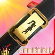 dây nịt nam thắt lưng da doanh nhân thời trang nhập khẩu italy( mạ vàng 24k)