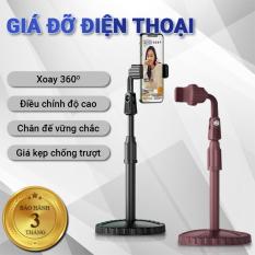 Giá đỡ điện thoại Cát Thái ZJL8 dành cho livestream xoay 360 độ mọi góc nhìn, có thể điều chỉnh độ cao, phần đế dày và nặng rất vững chắc, giá kẹp chống trượt chống trầy – Bảo hành 3 tháng