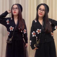 Áo len nữ họa tiết bông hoa đáng yêu và dễ thương áo len nữ chất lượng cao chất mềm êm không xù cao cấp