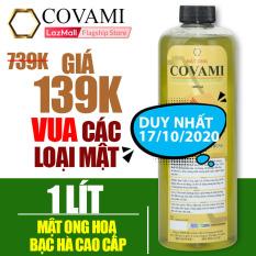Mật ong nguyên chất hoa bạc hà COVAMI 1 lít, nguyên chất, an toàn, cam kết đúng chất lượng