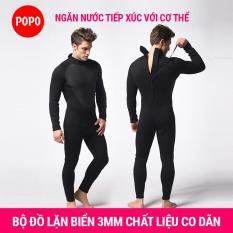 Bộ đồ lặn, quần áo lặn biển cho NAM 3mm giữ ấm, thoáng khí, chống thầm nước cao cấp POPO Collection