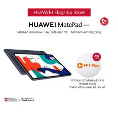 TRẢ GÓP 0%   Máy tính bảng HUAWEI MatePad 64GB   Màn hình 2K FullView   Hiệu suất mạnh mẽ   Âm thanh vòm sống động   Quà Tặng: FPT Play
