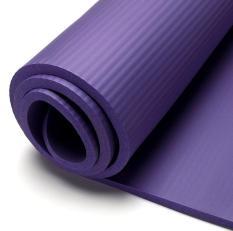(nhiều màu) Thảm tập Yoga-Gym nhập khẩu vân sọc 10mm tặng quà túi đựng thảm và dây buộc thảm sang trọng