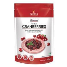 [ Sản Phẩm Mỹ] Nam Việt Quất 50g – Cranberrries – Trái cây sấy Rostaa