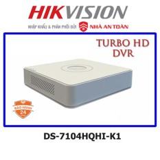 Đầu ghi camera 4 kênh HDTVI up to 4MP Hikvision DS-7104HQHI-K1 – chính hãng Nhà An Toàn