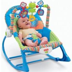 [ Tặng quà ] Ghế rung, ghế nhún cho bé từ sơ sinh đến 18kg, có phát nhạc kích thích phát triển não bộ của trẻ ( Tặng 02 ống bón 5ml )