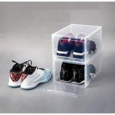 Hộp Đựng Giày Nhựa Cứng Cửa Mở Nam Châm Tặng gói hút ẩm,Hộp Đựng Giày Nhựa Cứng Sneaker Box sịn sò, hộp đựng giày loại đẹp