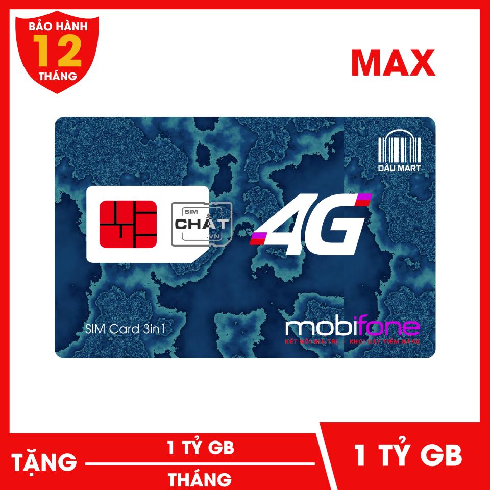 SIM 4G MAX Mobifone F120WF 1 Tỷ GB/Tháng