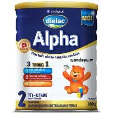 Sữa Bột Dielac Alpha 2, 900g (Cho trẻ 6-12 tháng tuổi)