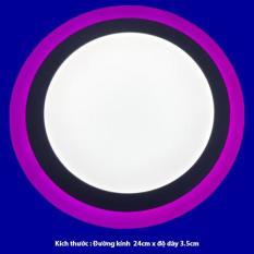 Đèn led ốp trần 24w tròn – 2 màu 3 chế độ