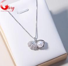 Dây chuyền nữ bạc mặt ngọc trai vỏ sò dễ thương thời trang cao cấp cho phái đẹp BG260277