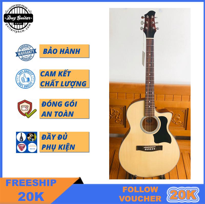 Đàn guitar acoustic dáng khuyết DVE70 Duy Guitar Store đàn guitar acoustic giá rẻ tốt cho sinh viên đệm hát...