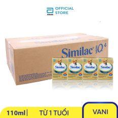 Thùng 48 hộp sữa nước Similac Eye-Q 4 110ml trẻ từ 1 tuổi đề kháng vượt trội phát triển trí não