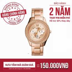Đồng hồ nữ dây kim loại Fossil ES3590 38mm – Vàng Hồng