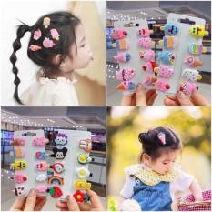 Set 10 kẹp tóc xinh xắn dễ thương phong cách Hàn Quốc cho bé yêu