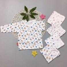 Áo dài bình sữa cotton cho bé sơ sinh 0-11kg hàng đẹp được làm từ vải cotton mỏng nhẹ an toàn cho làn da nhạy cảm của bé
