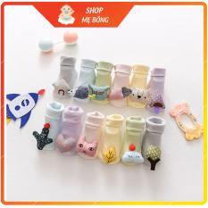 Tất chống trượt họa tiết 3D cho bé từ 0-3 tuổi (hàng xuất Nhật)