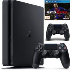 Combo PS4 Slim 1TB [Bảo Hành 1 Năm] + 2 Tay Cầm + Pes 2019