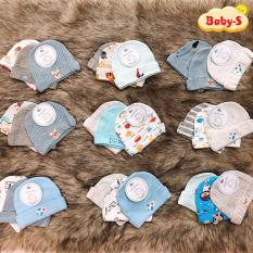 [HCM]Set 3 nón sơ sinh cho bé trai và bé gái từ 0-6 tháng tuổi chất thun cotton dày đẹp giữ ấm cho bé với nhiều họa tiết đáng yêu Baby-S – SSS004