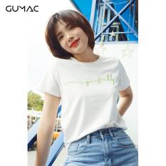 [ Sản phẩm mới ] Áo thun nữ đẹp GUMAC thiết kế cao cấp thêu perfectly ATA9118