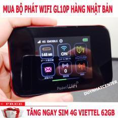 Củ phát wifi GL10P- Phát wifi 3G 4G cực mạnh từ sim- Hàng cao cấp Nhập khẩu đến từ Nhật Bản-tặng sim 4G Data cực khủng
