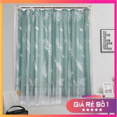 Rèm cửa sổ họa tiết hiện đại thiết kế tự dính tiện dụng, rèm che cửa 2 lớp siêu đẹp, có thể làm thảm vải treo tường trang trí decor phòng ngủ phòng khách mang phong cách Bắc Âu
